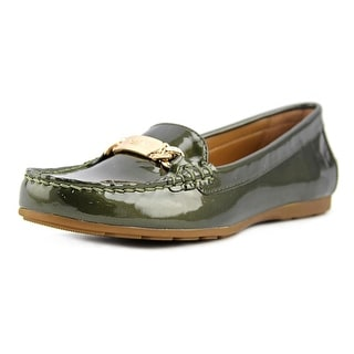 Coach Olive Moc Toe Patent Leather Loafer