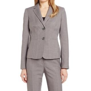 Kasper NEW Pearl Grey Crosshatch Women's Size 14 Pocketed Blazer