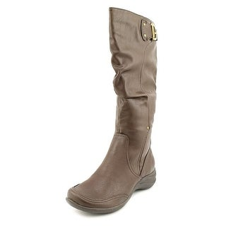 Hush Puppies Alternative_18BT Women Round Toe Synthetic Brown Knee High Boot