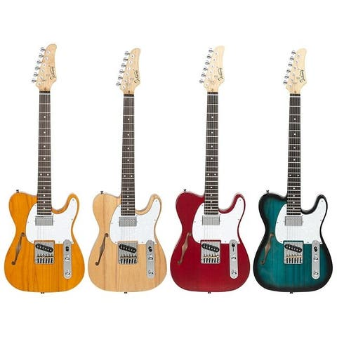 Glarry GTL Semi-Hollow Electric Guitar Rosewood Fingerboard