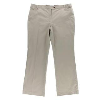 Calvin Klein Womens Dress Pants Ponte Straight Leg