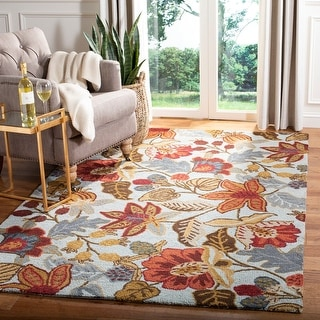 Link to Safavieh Handmade Blossom Christiana Modern Floral Wool Rug Similar Items in French Country Rugs