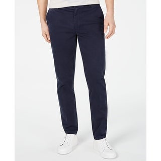 Link to DKNY Mens Pants Navy Blue Size 38X32 Bedford Straight Leg Stretch Similar Items in Big & Tall