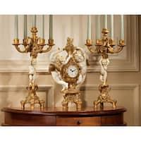 Design Toscano The Cherub's Harvest Clock and Candelabra Ensemble