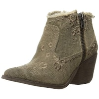 Naughty Monkey Women's Sewn up Ankle Bootie - Taupe - 8