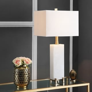 """Link to Safavieh Lighting 30-inch Sloane Alabaster LED Table Lamp - 15""""x8""""x30"""" Similar Items in Table Lamps"""