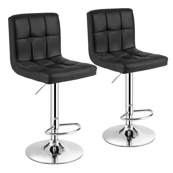 Set of 2 Modern Swivel Adjustable Armless Barstools. Opens flyout.