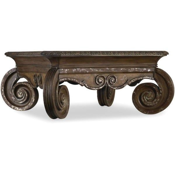 """Hooker Furniture 5072-80112 49-1/4"""" Long Hardwood Coffee Table from the Rhapsody Collection - Rustic Walnut"""