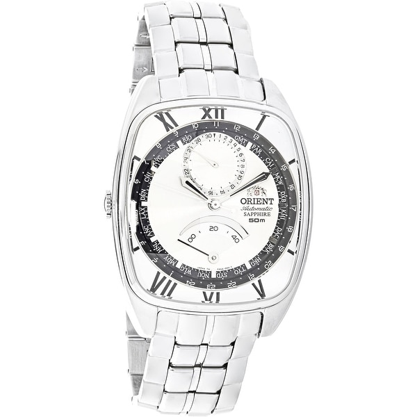 Orient Men S Silver Metal Quartz Fashion Watch Free Shipping Today 18618550
