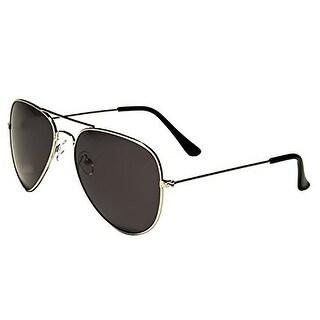 Mechaly MESA01 Classic Aviator Style Sunglasses, Black/Silver