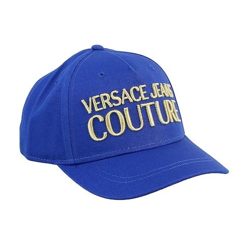 Versace Jeans Couture Blue Pure Cotton Mid Visor Cap
