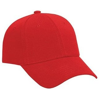 Jersey Knit Low Profile Pro Style Cap, Red