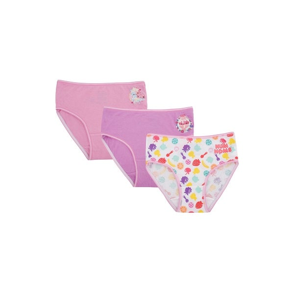 Girls Num Noms Snackables Silly Shakes Underwear Briefs 3 pack