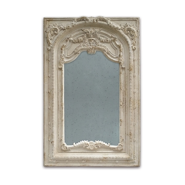 Antique White 73-inch Scroll Fauna Floor Mirror. Opens flyout.