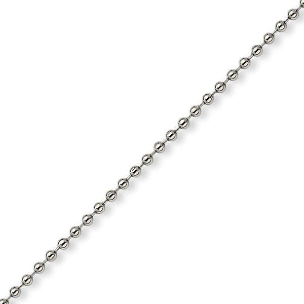 Chisel Stainless Steel 3mm Ball Chain - 24 Inches (3 mm) - 24 in