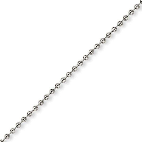 Chisel Stainless Steel 3mm Ball Chain - 30 Inches (3 mm) - 30 in