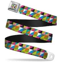 Rz Split Blocks Full Color Multi Color Rz Split Blocks Multi Color Webbing Seatbelt Belt