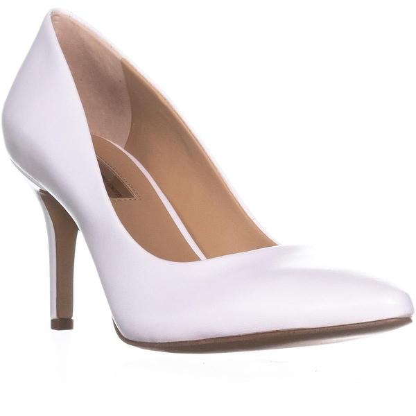 I35 Zitah5 Pointed-Toe Heels, Bright White