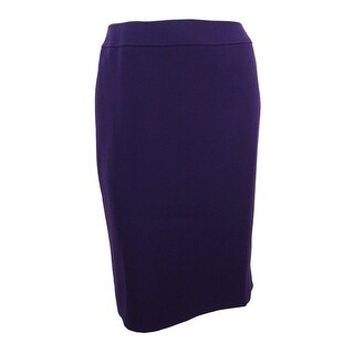 Tahari ASL Women's Plus Size Ponte-Knit Skirt - french purple
