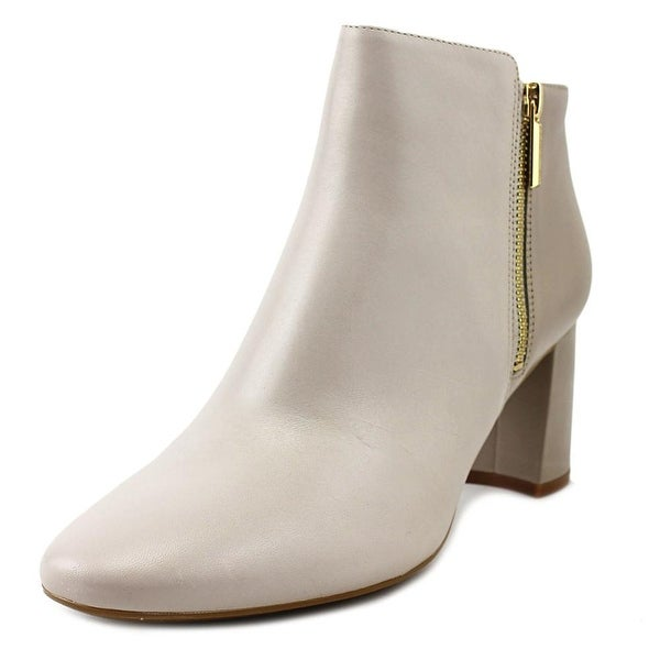 Karl Lagerfeld Susie Women Round Toe Leather Gray Ankle Boot