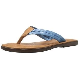 Sbicca Womens Elonara Thong Woven Flat Sandals