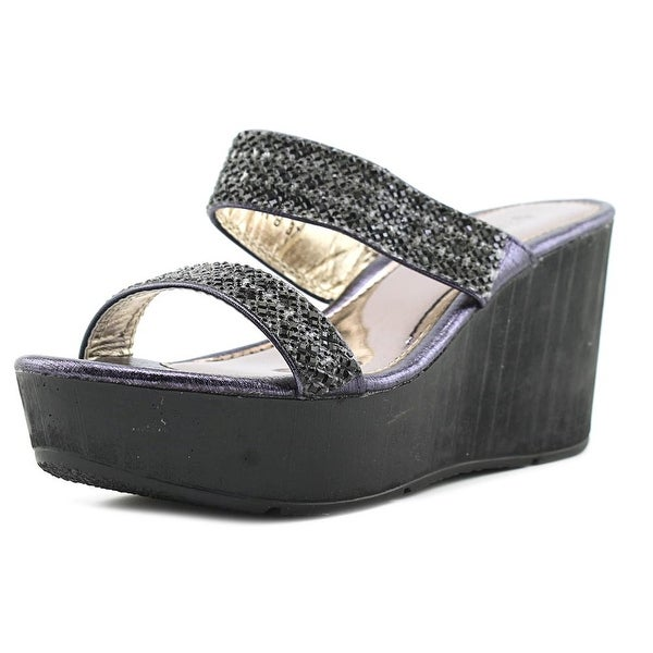 Patrizia By Spring Step Tanuja Women Open Toe Synthetic Black Wedge Sandal