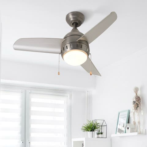 "CO-Z 36"" 3-Blade Reversible LED Ceiling Fan with Adjustable Light Kit And Rmote Control"