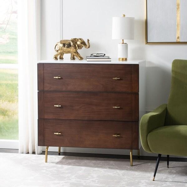 Safavieh Genevieve Modern Wood 3-drawer Dresser. Opens flyout.