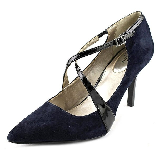 Alfani Womens TRUDIEE Suede Pointed Toe Ankle Strap