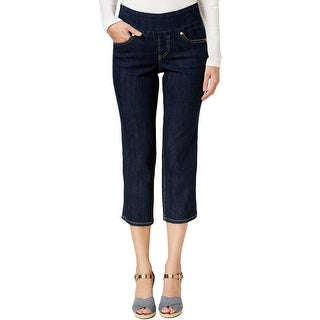 Jag Jeans Womens Cropped Jeans Dark Wash Classic Fit