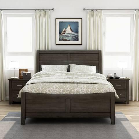 Furniture of America Inyx Walnut 3-piece Bedroom Set with 2 Nightstands