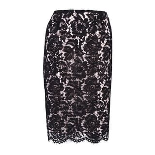 Vince Camuto Women's Scalloped Lace Pencil Skirt - rich black (Option: 6)|https://ak1.ostkcdn.com/images/products/is/images/direct/37718f3fbbab97fb253b10f4a5001f0e9fcba7f4/Vince-Camuto-Women%27s-Scalloped-Lace-Pencil-Skirt.jpg?impolicy=medium