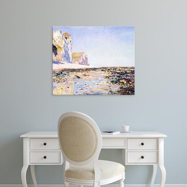 Easy Art Prints Claude Monet's 'Cliffs of Pourville in the Morning' Premium Canvas Art