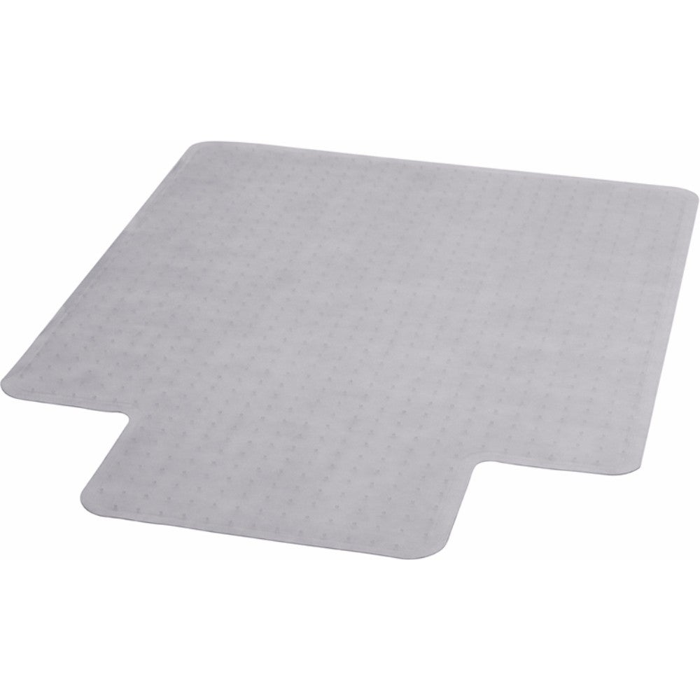 Evolve 36 x 48 Inch Modern Office Chair Mat for Low Pile Carpet with Lip Clear