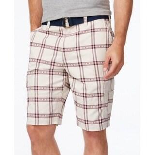 American Rag NEW Red Stone Block Mens Size 32 Southwest Plaid Shorts