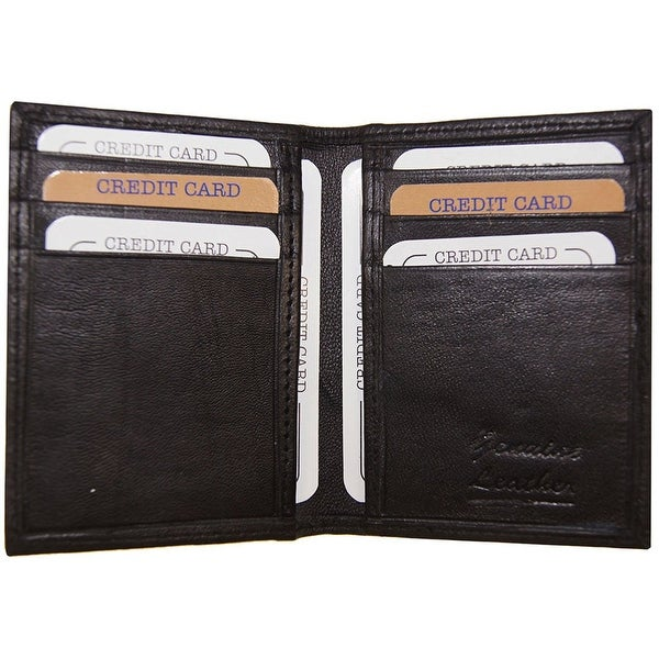 Improving Lifestyles Leather Credit Card Bifold with outside Window ID Black
