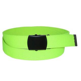CTM® Adjustable Neon Fabric Web Belt - One size
