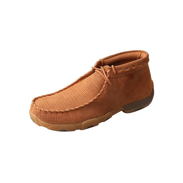 Twisted X Casual Shoes Mens Mocs Rubber Sole Red Buckle Saddle MCL0006