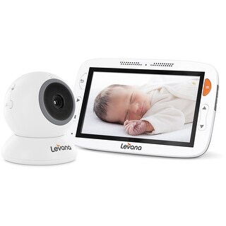 "Levana Alexa 5"" LCD Video Baby Monitor with Temperature Monitoring, Feeding/Nap Timer, Two Way Intercom"