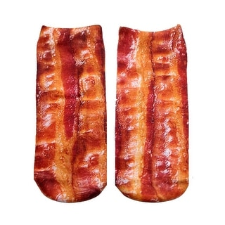 Bacon Photo Print Ankle Socks