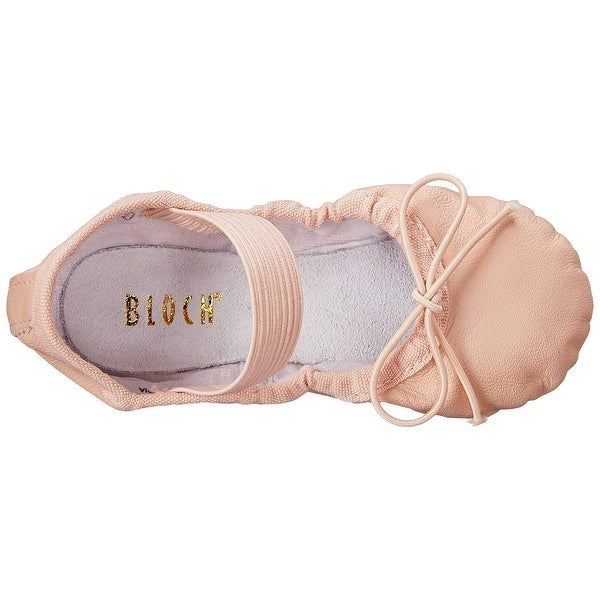 Kids Bloch Girls Dansoft Leather Bungee Ballet Flats