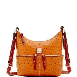 Dooney & Bourke Ostrich Embossed Leather Small Pocket Zipper Crossbody (Introduced by Dooney & Bourke at $238 in Jan 2018)