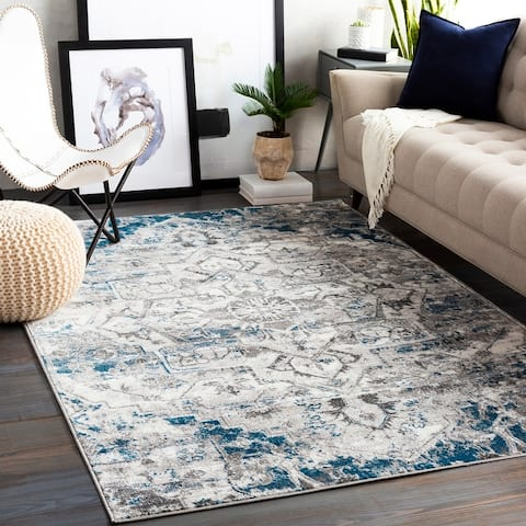 Porch & Den Meadow View Distressed Medallion Area Rug