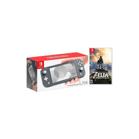 Nintendo Switch Lite Gray Bundle with The Legend of Zelda: Breath of the Wild Game