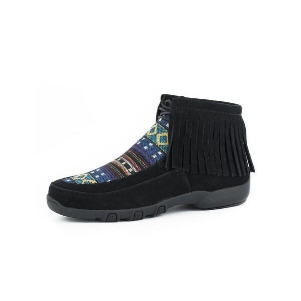 Roper Western Shoes Womens Santa Fe Fabric Black