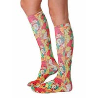Gummy Bears Photo Print Knee High Socks - Red