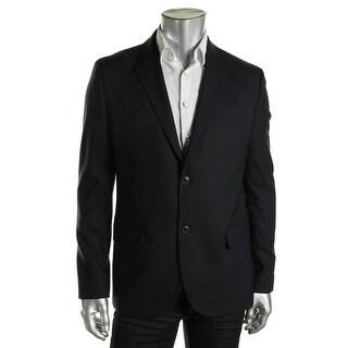 Tommy Hilfiger Mens Two-Button Blazer Wool Notch Collar - L