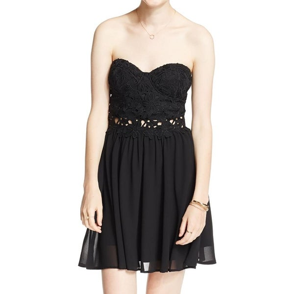 259a109c9 Shop Teeze Me Womens Juniors Cocktail Dress Chiffon Lace-Inset - Free  Shipping On Orders Over $45 - Overstock - 17414485