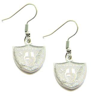 Oakland Raiders Glitter Sparkle Dangle Logo Earring Set Charm Gift NFL