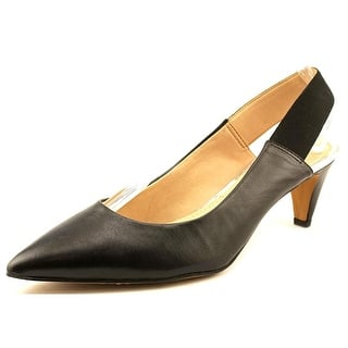 French Connection Kourtney Women Pointed Toe Leather Black Slingback Heel|https://ak1.ostkcdn.com/images/products/is/images/direct/3779a967aaf81146a74e14c225da693639fc6b48/French-Connection-Kourtney-Women-Pointed-Toe-Leather-Black-Slingback-Heel.jpg?impolicy=medium